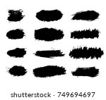 collection black dirty design... | Shutterstock .eps vector #749694697