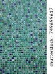 green mosaic tiles. background...   Shutterstock . vector #749699617