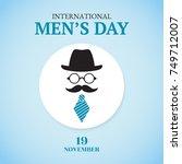 international men's day card. | Shutterstock .eps vector #749712007