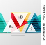 colorful abstract shapes... | Shutterstock .eps vector #749713387