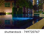 courtyard of an apartment house ... | Shutterstock . vector #749720767