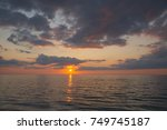 Sunset Over Gulf Of Mexico Fro...