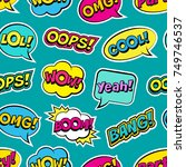 seamless colorful pattern with... | Shutterstock .eps vector #749746537