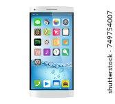 white smartphone  mobile phone...