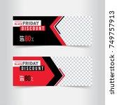 banner design. black and red... | Shutterstock .eps vector #749757913