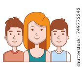 group of persons avatars... | Shutterstock .eps vector #749773243