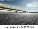 asphalt road and highway bridge ... | Shutterstock . vector #749773567