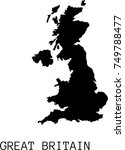 black vector great britain... | Shutterstock .eps vector #749788477