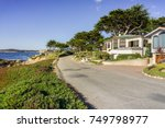 driving on the pacific ocean... | Shutterstock . vector #749798977