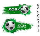 soccer club or football sport... | Shutterstock .eps vector #749810683