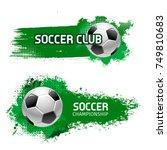 soccer club or football sport... | Shutterstock .eps vector #749810683
