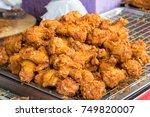crispy fried chicken | Shutterstock . vector #749820007
