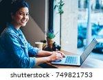 half length portrait of... | Shutterstock . vector #749821753