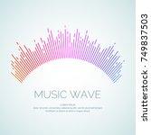 vector illustration of music...   Shutterstock .eps vector #749837503