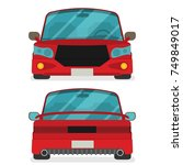 car front and rear. vector flat ... | Shutterstock .eps vector #749849017