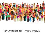 flat illustration of society... | Shutterstock .eps vector #749849023