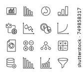 premium set of data analytics...   Shutterstock .eps vector #749858317