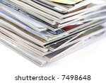 stack of magazines isolated on... | Shutterstock . vector #7498648