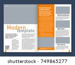 modern magazine or newspaper... | Shutterstock .eps vector #749865277