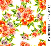 abstract elegance seamless... | Shutterstock .eps vector #749865457