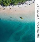 aerial view of a beach  creek ... | Shutterstock . vector #749891347