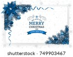 christmas and new year greeting ... | Shutterstock .eps vector #749903467