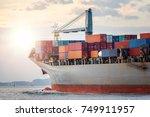 logistics import export concept ... | Shutterstock . vector #749911957