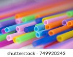 closeup of plastic straw ...   Shutterstock . vector #749920243