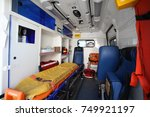 ambulance car from inside and... | Shutterstock . vector #749921197