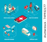 online medical services... | Shutterstock .eps vector #749932177