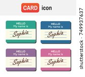 name tag banner. name tag set.... | Shutterstock . vector #749937637