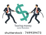 two businessmen break sing... | Shutterstock .eps vector #749939473
