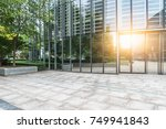 modern buildings and empty... | Shutterstock . vector #749941843