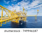 oil and gas central processing... | Shutterstock . vector #749946187