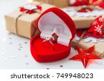 christmas and new year... | Shutterstock . vector #749948023