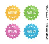 set  collection of colorful... | Shutterstock .eps vector #749968903
