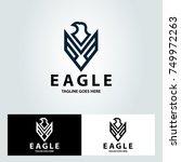 eagle logo design template....   Shutterstock .eps vector #749972263