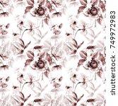 seamless wallpaper with...   Shutterstock . vector #749972983