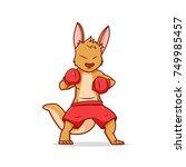 boxing kangaroo  character...   Shutterstock .eps vector #749985457