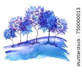 watercolor illustration. group...   Shutterstock . vector #750000013