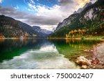 beautiful view of idyllic... | Shutterstock . vector #750002407