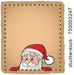 lurking santa claus topic... | Shutterstock .eps vector #750003247