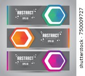 vector abstract design banner... | Shutterstock .eps vector #750009727