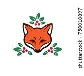 modern vector fox illustration | Shutterstock .eps vector #750010897