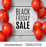 black friday sale poster with...   Shutterstock .eps vector #750013723