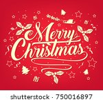 chirstmas simple typography... | Shutterstock .eps vector #750016897