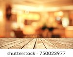 wooden surface on abstract... | Shutterstock . vector #750023977