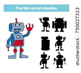shadow matching game for... | Shutterstock .eps vector #750027313