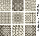 set of 9 seamless patterns.... | Shutterstock .eps vector #75002974