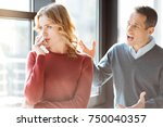 conflict in the family. angry... | Shutterstock . vector #750040357